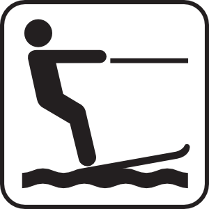 300x300 Water Skiing White Clip Art Ski And Home Clip Art
