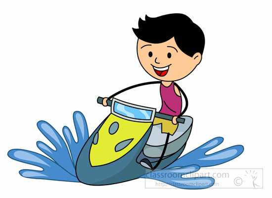 550x400 Water Sports Clipart Water Sports Boy Driving Jet Ski Clipart