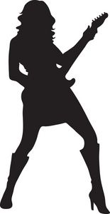 155x300 Guitar Player Silhouette Clipart