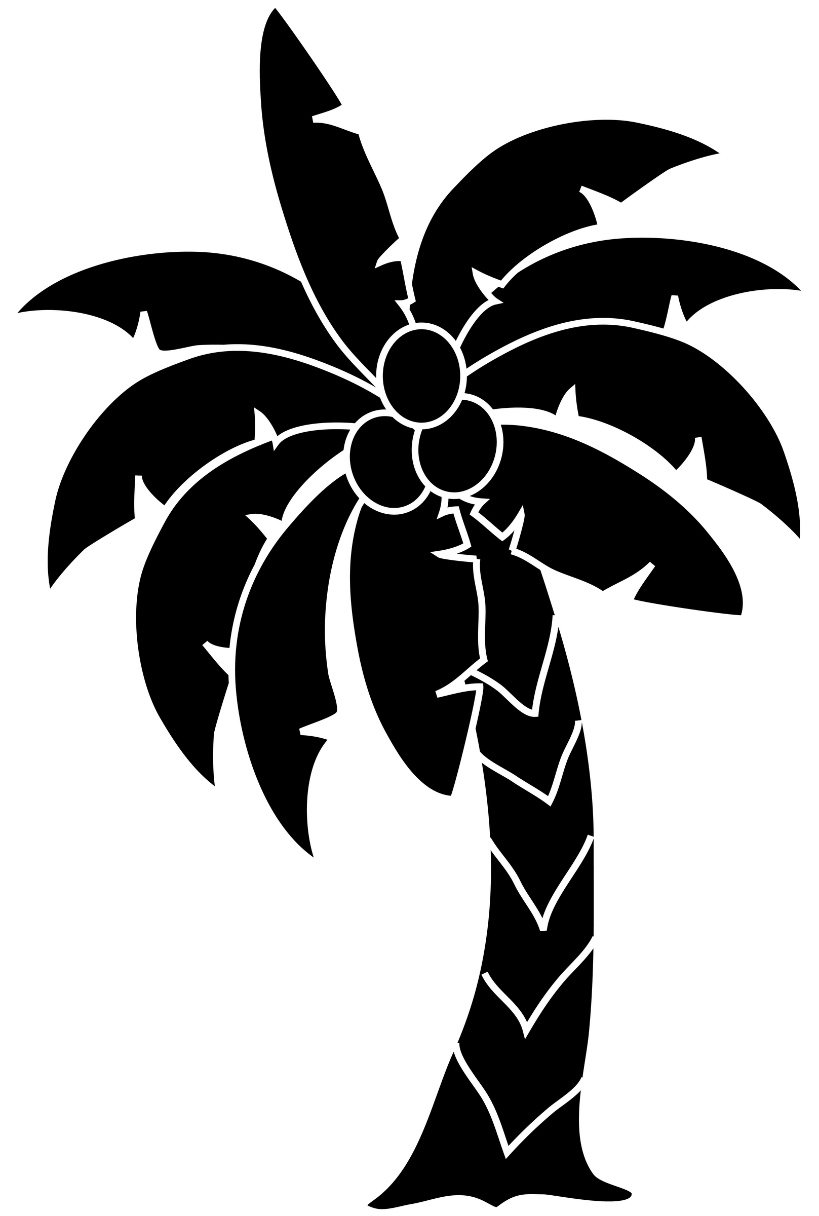 1617x2400 Trees In The Water Clipart