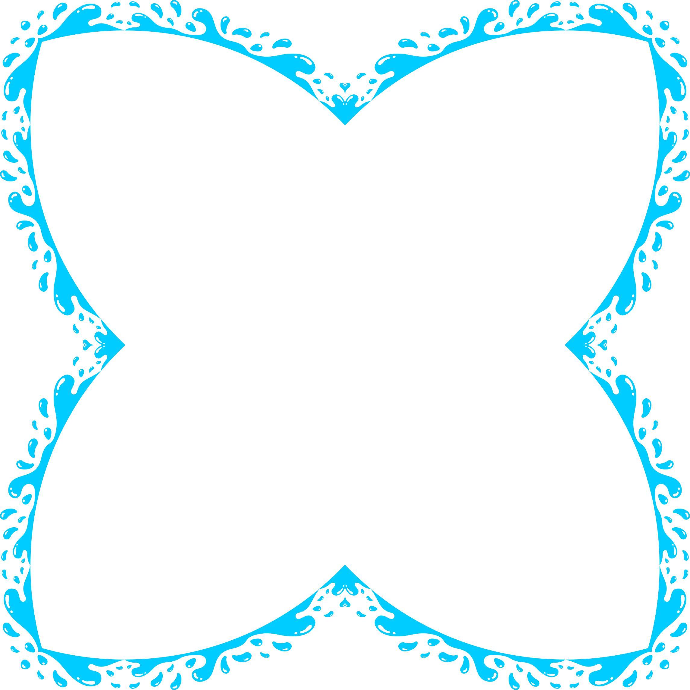 2290x2290 Water Splash Circle Frame Icons Png