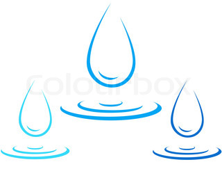 320x243 Blue Isolated Water Splash On White Background Stock Vector