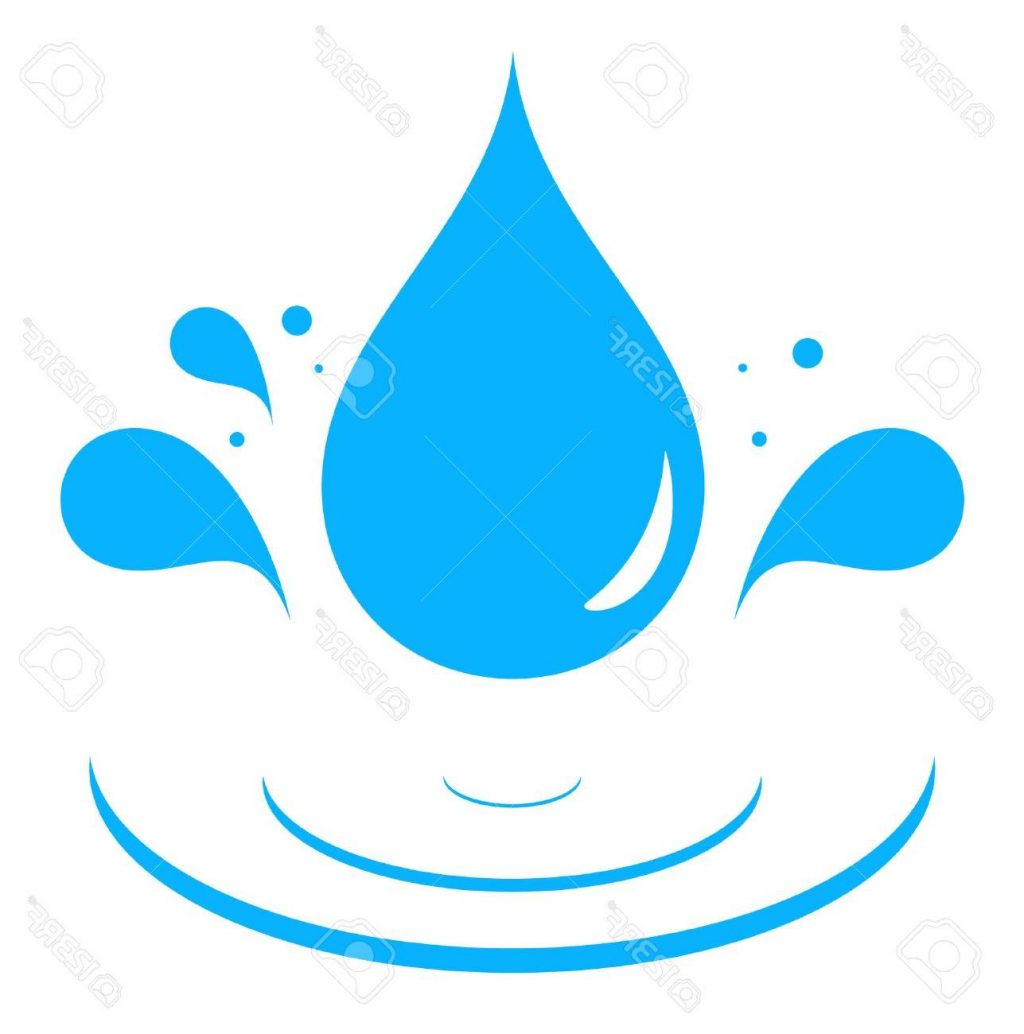 1024x1034 Hd Icon With Blue Water Drop Splash Silhouette Stock Vector Images
