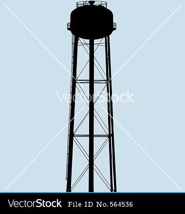 Water Tower Silhouette