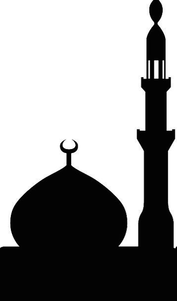 358x608 Mosque, Islam, Muslim, Silhouette, Outline, Black, Minaret, One