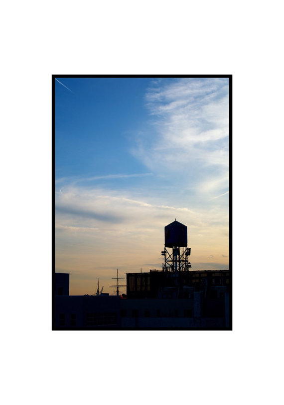 570x814 Silhouette Photographwater Tower New York City Fine Art