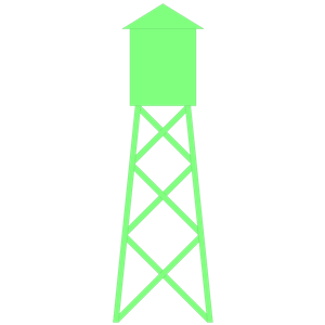 300x300 Water Tower Clipart, Cliparts Of Water Tower Free Download (Wmf