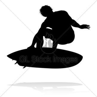 325x325 Surfer Silhouette Gl Stock Images