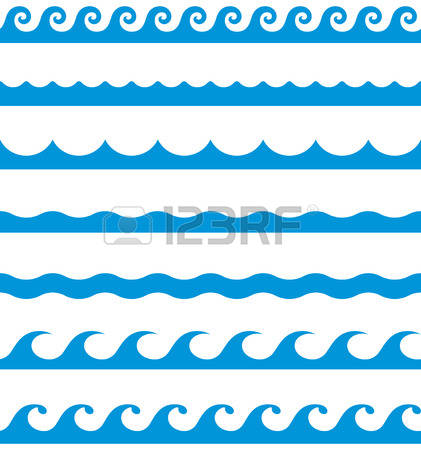 421x450 The Sea Clipart Wave Line
