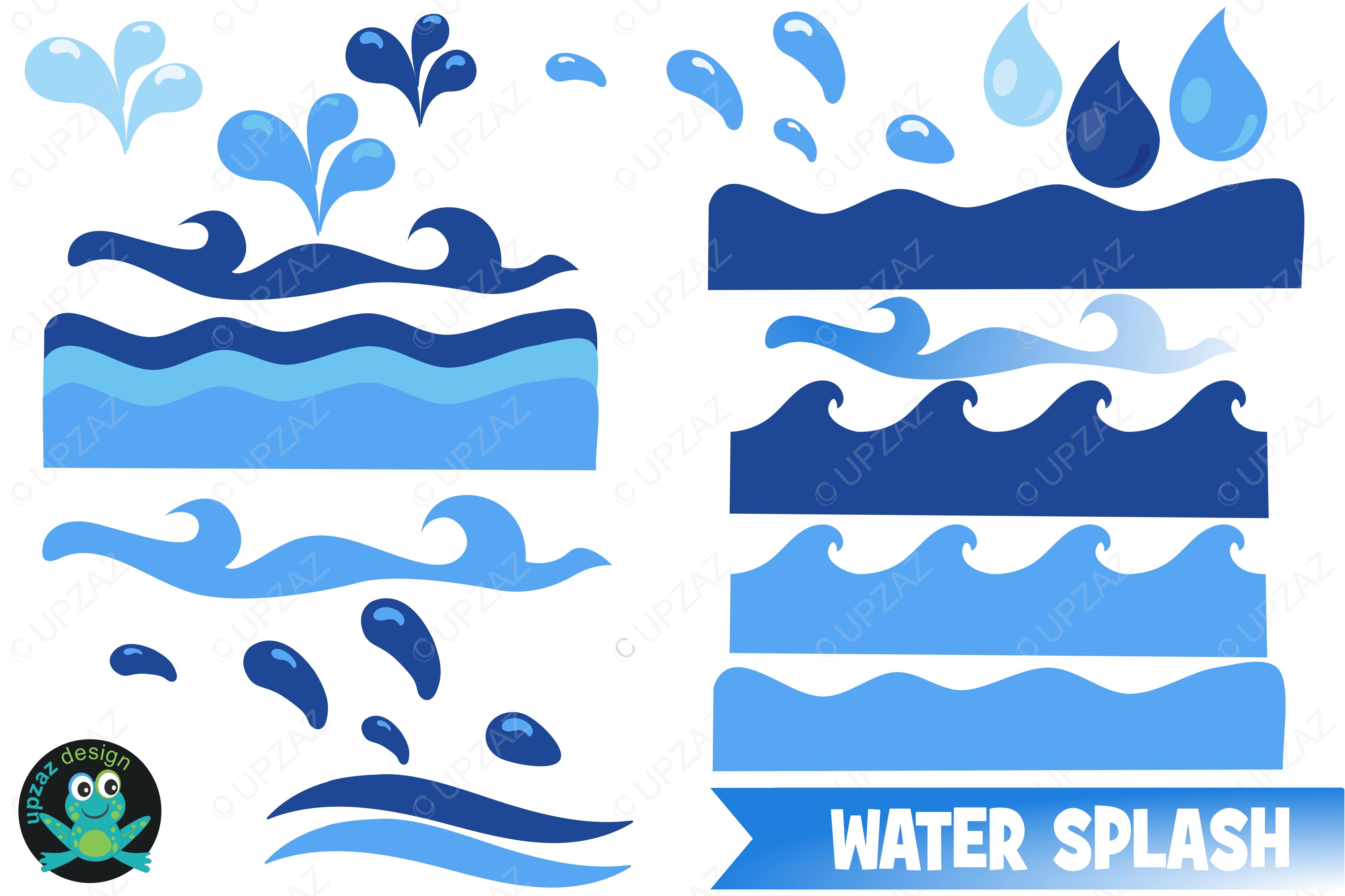 4688x3125 Water Waves Clipart By Upzaz Design Bundles