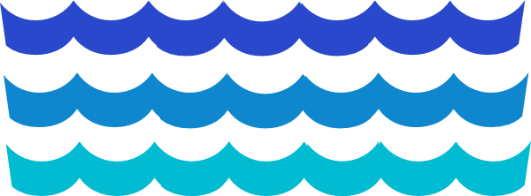 600x222 Waves Water Wave Border Clipart 2