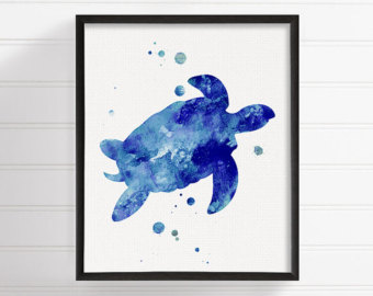340x270 Manta Ray Watercolor Painting Manta Ray Art Print Manta Ray