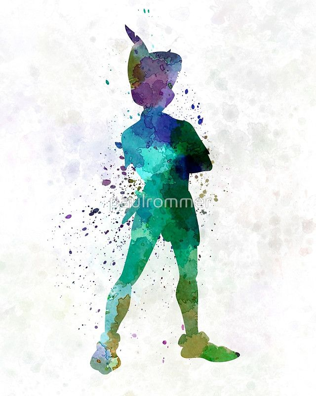 640x800 Peter Pan In Watercolor By Paulrommer Artsy Peter