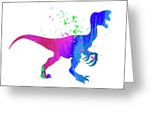226x170 Dinosaur Watercolor Silhouette Painting Photograph By Donald Erickson