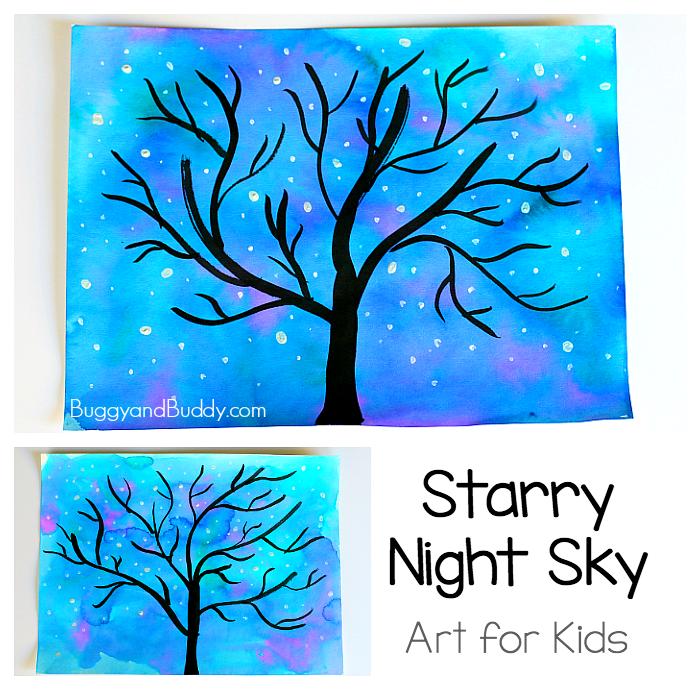 700x690 Starry Night Sky Art Project For Kids