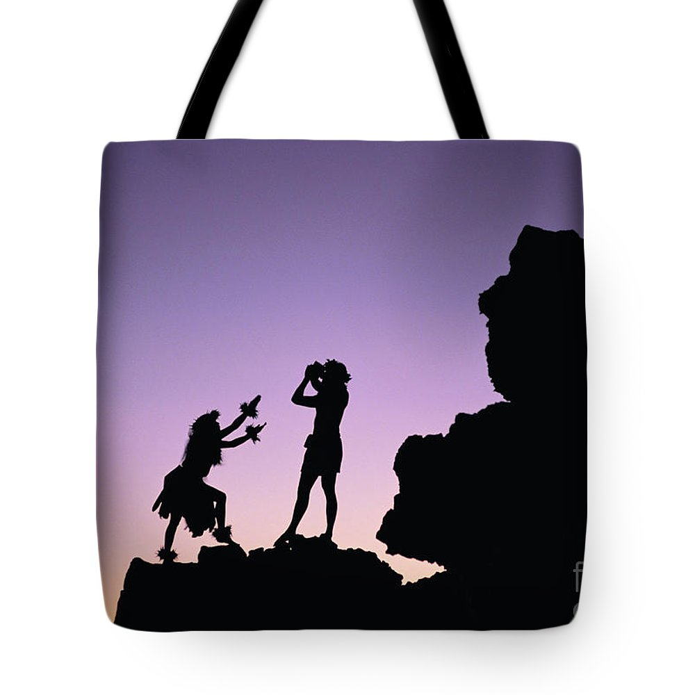 1000x1000 Hula Silhouette Tote Bag For Sale By William Waterfall