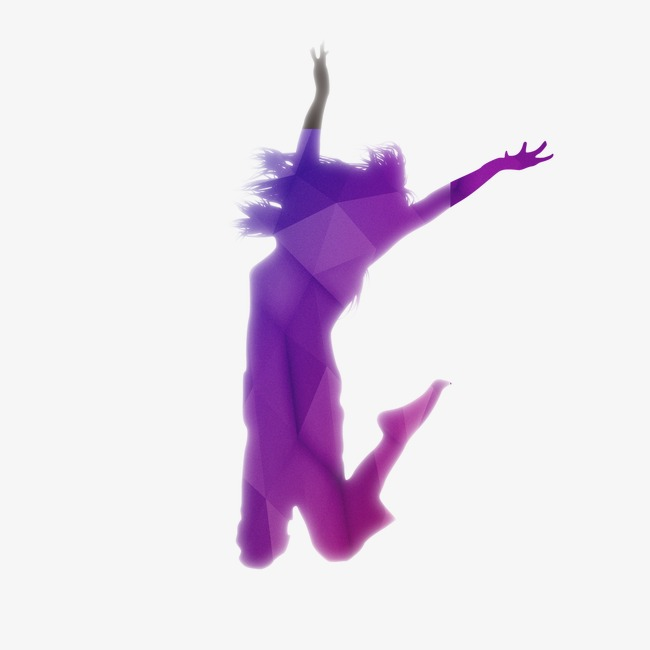 650x650 Silhouette Figures, Woman Silhouette, Purple Silhouette, Wave Png