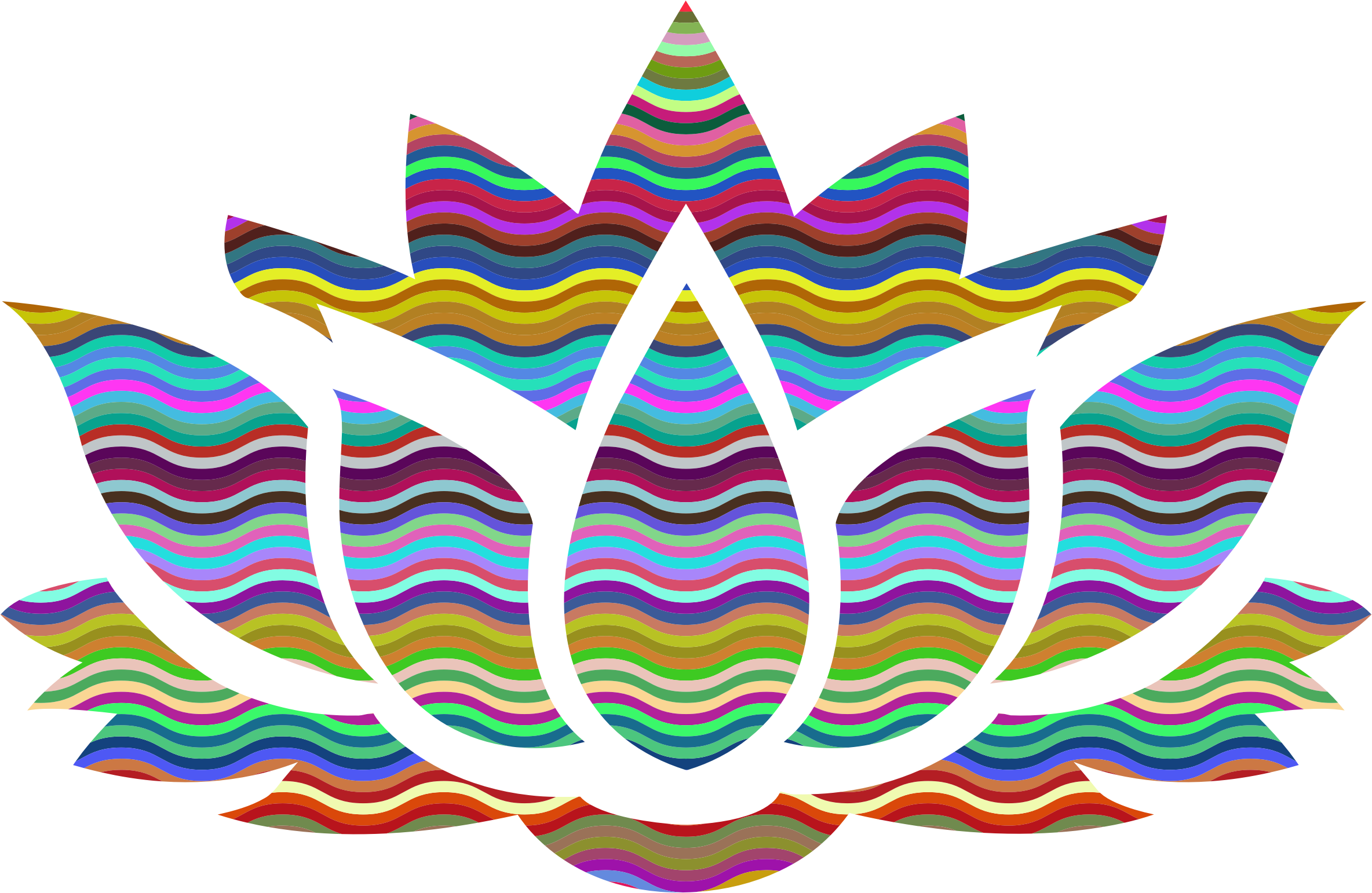 2368x1542 Prismatic Waves Lotus Flower Silhouette Icons Png