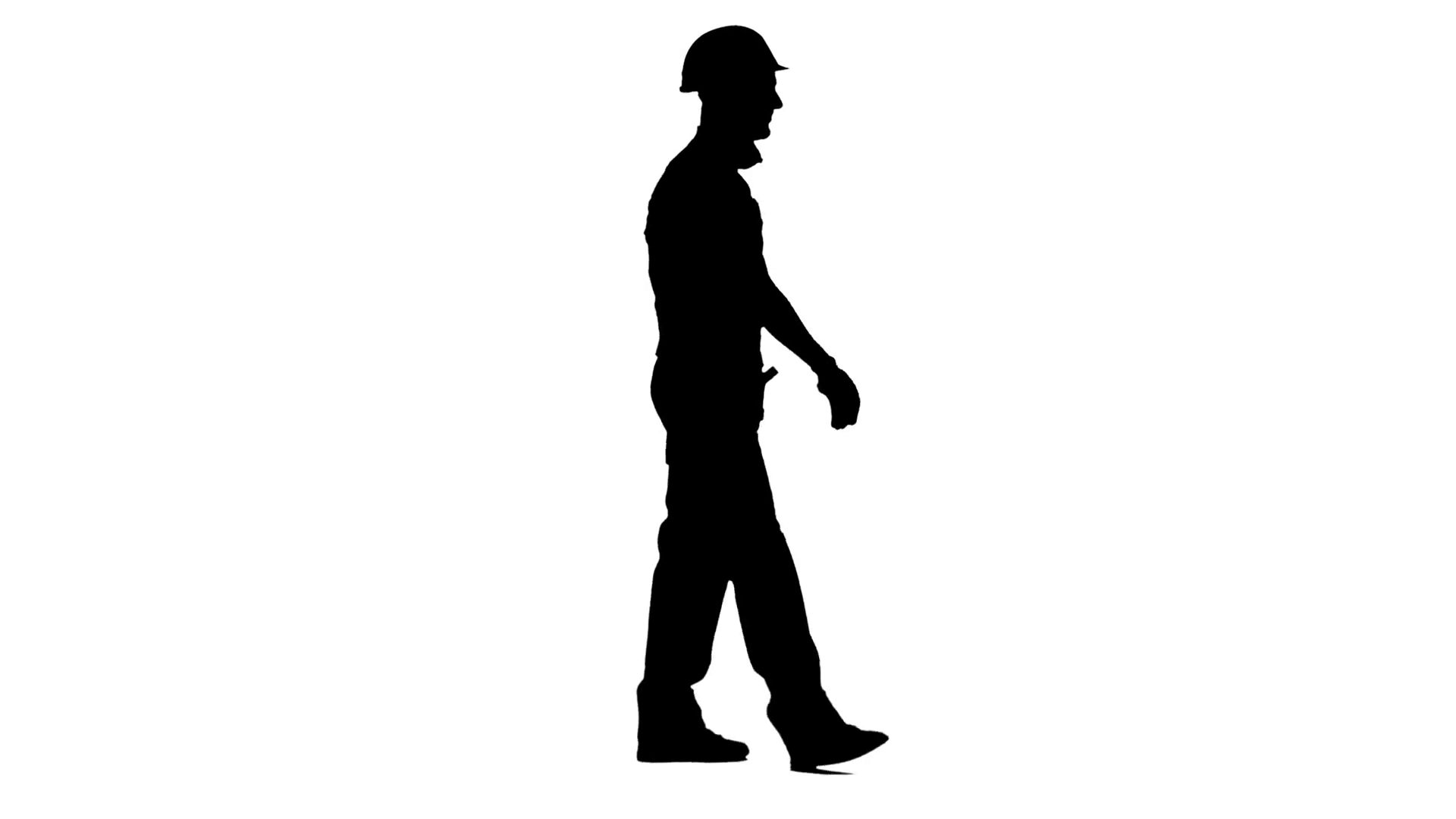 1920x1080 Builder Walks And Waves To His Workers, Showing A Thumbs Up. White