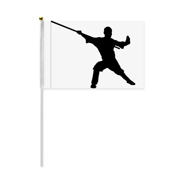 600x600 Kung Fu Martial Art Chinese Shaolin Stick Hand Waving Flag 8x5