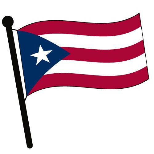 500x500 Puerto Rico Waving Flag Clip Art American Pictures