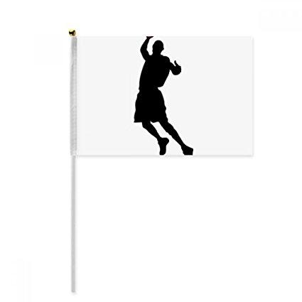 425x425 Running Jumping Sports Basketball Hand Waving Flag