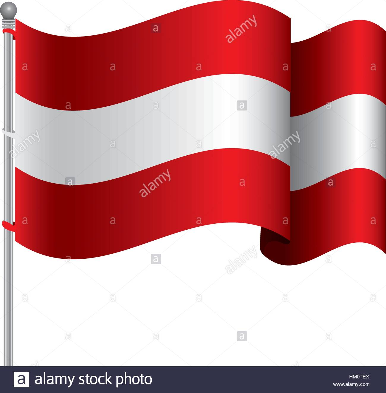 1300x1323 Silhouette Color With Waving Flag Of Austria And Shadow Vector