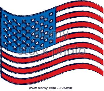 365x320 Watercolor Silhouette Of Flag The United States Stock Vector Art