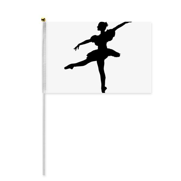 600x600 Dance Dancer Ballet Art Sports Hand Waving Flag 8x5 Inch Polyester