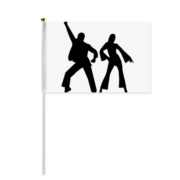 600x600 Dancer Sports Duet Dance Performance Hand Waving Flag 8x5 Inch