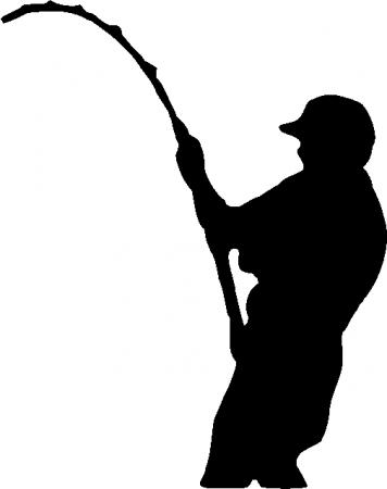 356x450 Man Fishing Silhouette Clipart