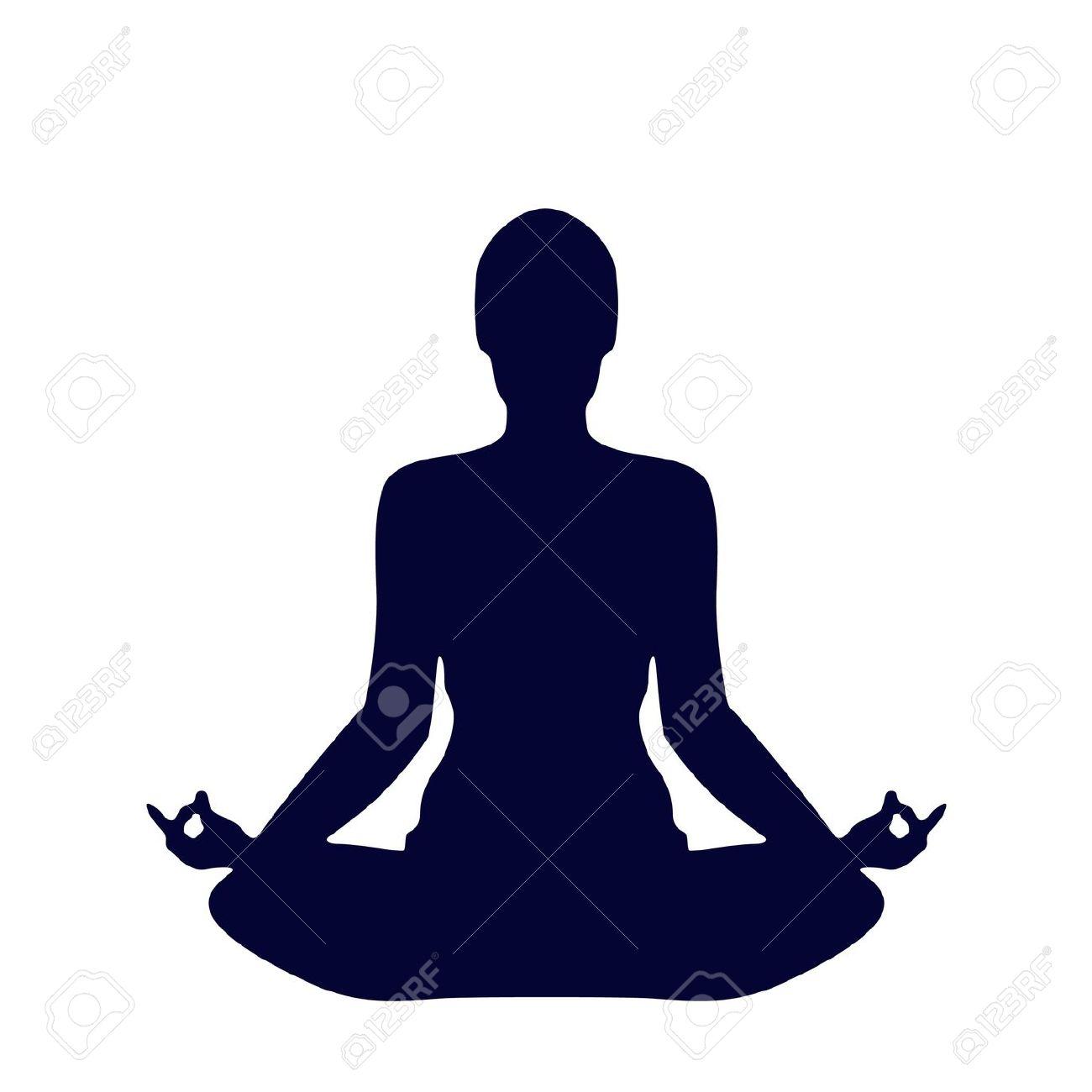 1300x1300 Meditation Clipart Silhouette 3705138