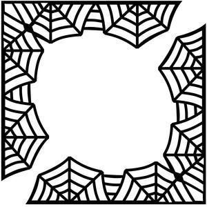 300x300 Spider Web Corners Spider Webs, Silhouette Design And Spider