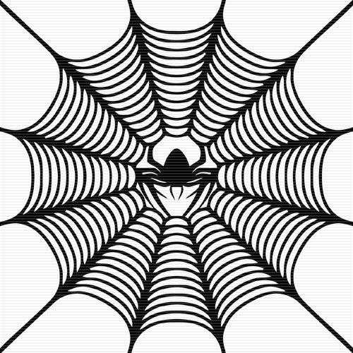 500x500 Crab Spider In Web Clip Art Cllip Art Clip Art