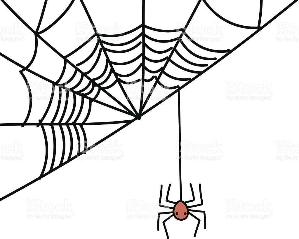 1024x820 Drawn Spider Web Silhouette