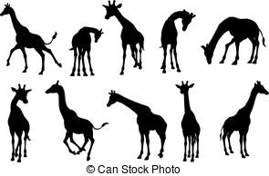 295x194 Giraffe Animal Silhouettes. Giraffe Wild Animal Silhouettes