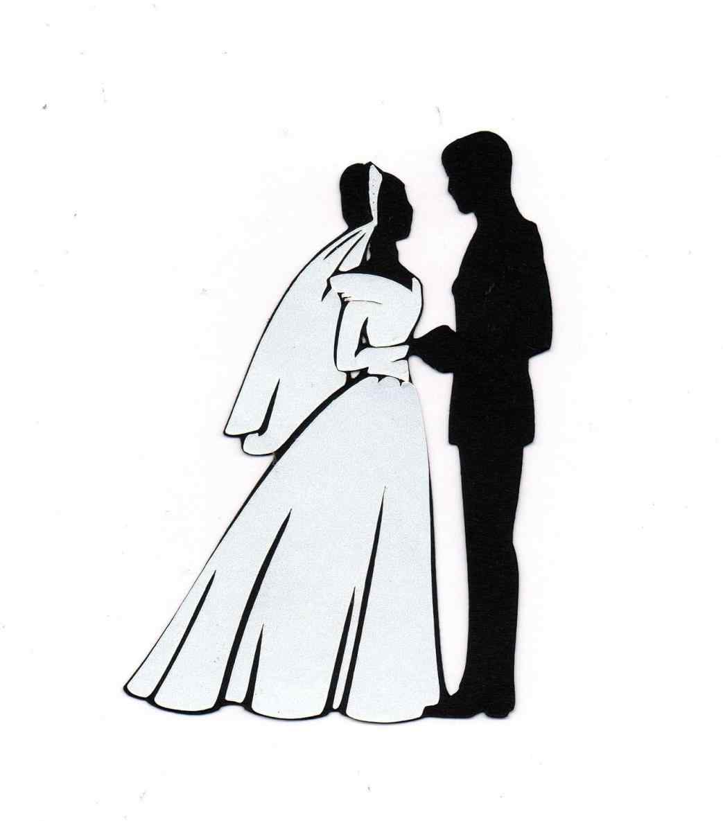 1043x1185 Clipart African American Bride And Groom Silhouette Image Cake