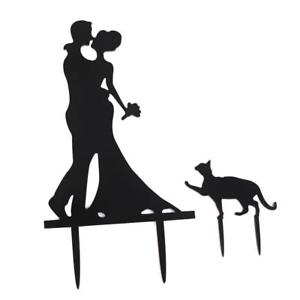 300x300 Wedding Party Cake Topper Silhouette Bride Amp Groom Kissing Couple