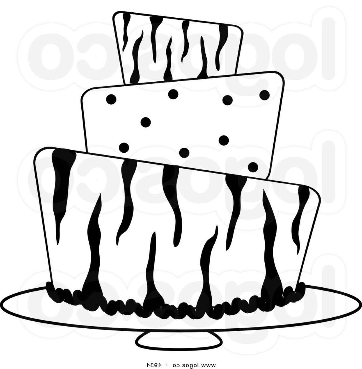 Wedding Cake Silhouette Clip Art at GetDrawings | Free ...