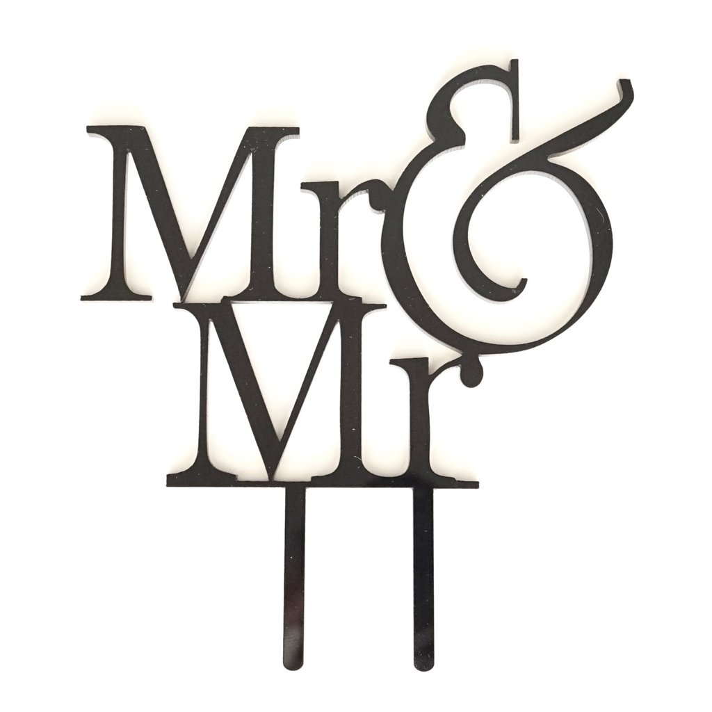 1024x1024 Mr Amp Mr Groom Amp Groom Silhouette Wedding Cake Topper Pick