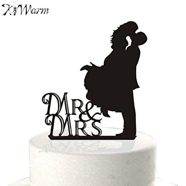 640x640 Online Shop Kiwarm Acrylic Romantic Mr Amp Mrs Kissing Wedding Cake