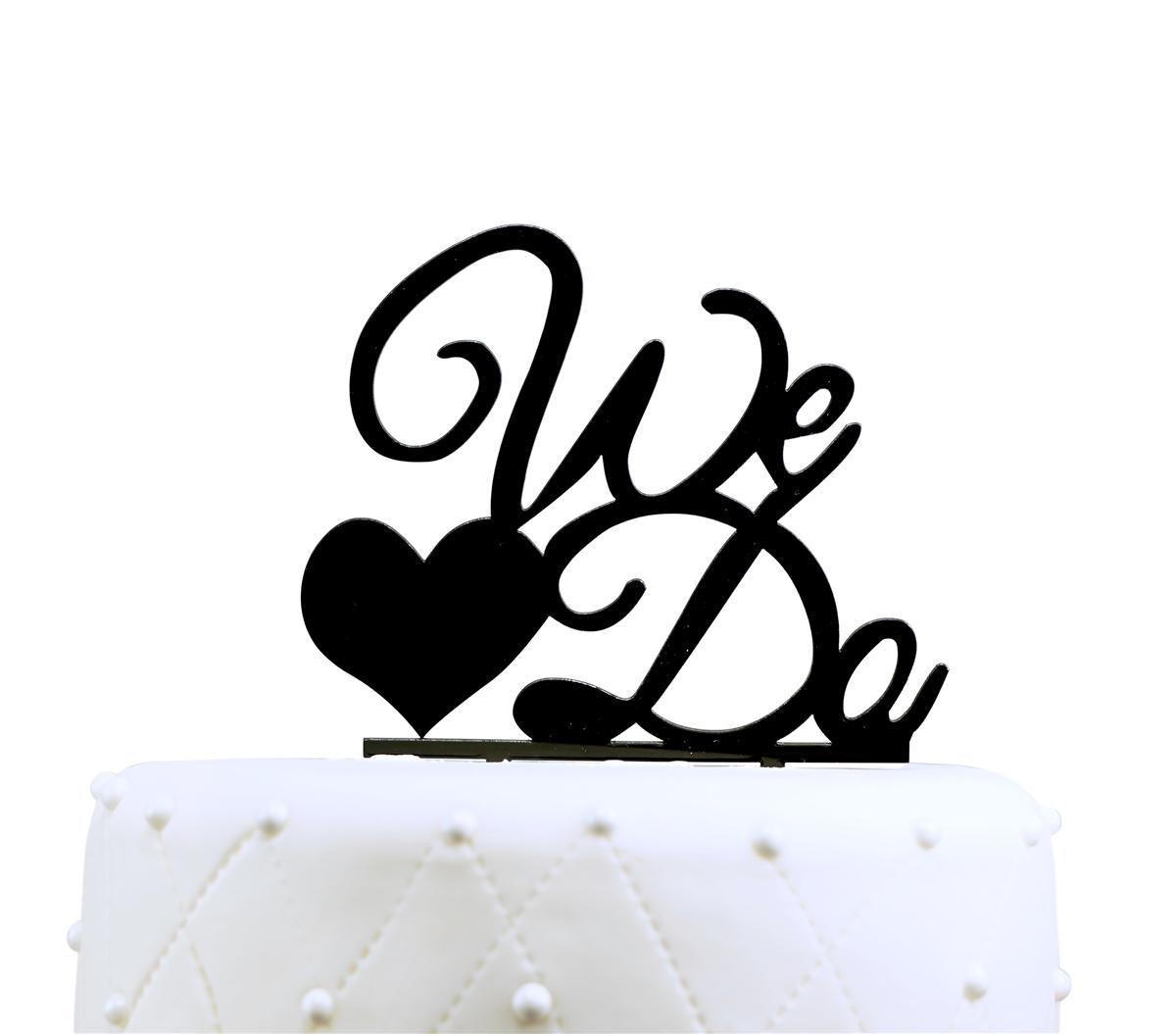 1200x1055 We Do Acrylic Wedding Cake Topper