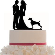 236x236 Wedding Cake Topper Silhouette Groom And By Bridesmaidgifthanger