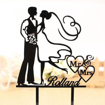 354x354 Wedding Cake Topper Silhouette From Caketopperdesign On Etsy