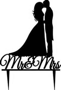 204x300 Wedding Cake Topper Silhouette Groom And Bride Wedding Cake