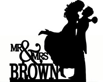 340x270 Custom Wedding Cake Topper Mr And Mrs Personalized With Your