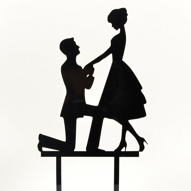 650x650 Engagement Bride Amp Groom Proposal Acrylic Wedding Day Cake Topper