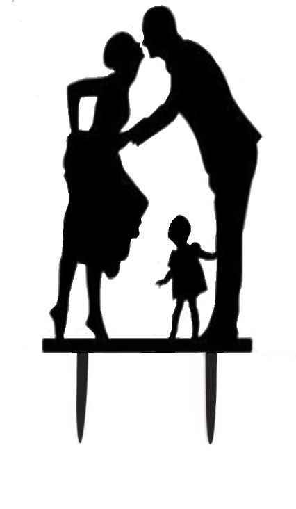 426x732 28 Best Silhouette Wedding Cake Topper Images