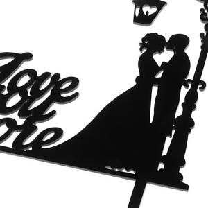 300x300 Sweet Wedding Engagement Mr Mrs Bride Groom Acrylic Silhouette