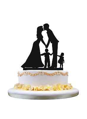 294x400 Wedding Cake Topper Silhouette Bridemp Groom Holding Baby